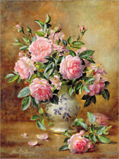 Poster / Toile / Tableau verre acrylique A Medley of Pink Roses - A. Williams