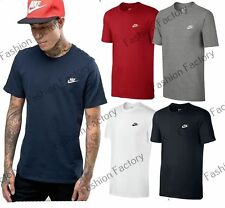 Men's Nike Basic Crew Neck Embroidered Swoosh Tee Casual Gym Nike T-Shirts