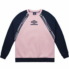 Umbro Sweatshirt pour Dames Couleur Block Raglan Sweat Pull Col Ras-Du-Cou /