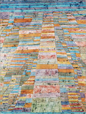 Poster, stampa su tela o vetro acrilico Main path and Byways - Paul Klee