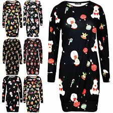 Womens Olaf Snowman Ladies Christmas Xmas Fleece Santa Father Sweatshirt Dress