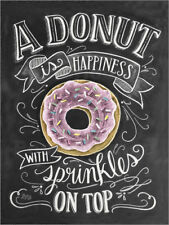 Póster, lienzo o cuadro en metacrilato A Donut is Happiness - Lily & Val