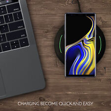New Qi Wireless Charger Charging Pad iPhone X/8/Plus Galaxy S9/S8/Plus/Note 9/8