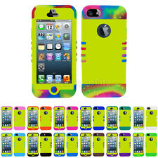 Lucido Perla Giallo Ibrida Urto Custodia Cover Rigida per Apple Iphone 5