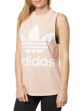 Nuevo Adidas Top Top sin Mangas Mujer CE5583 Trefoil Tanque Fucsia Rosa Women