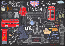 Poster / Toile / Tableau verre acrylique London at a glance