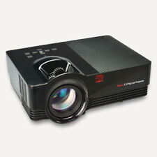 1500Lumens Proyector Cine Proyector 10.2cm LCD Multimedia 1080P Dc 12V 5A