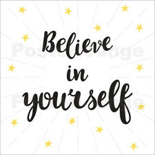 Póster, lienzo o cuadro en metacrilato Believe in yourself! - Typobox