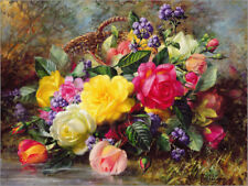Poster / Toile / Tableau verre acrylique Roses by a Pond - Albert Williams