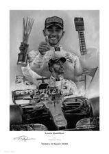 Lewis Hamilton   Spain 2018   Fine Art Prints by Stephen Doig