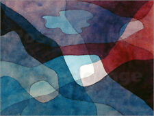 Póster, lienzo o cuadro en metacrilato Mountain and Air Synthetic - Paul Klee