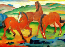 Póster, lienzo o cuadro en metacrilato Red Horses (Grazing Horses IV) - F. Marc