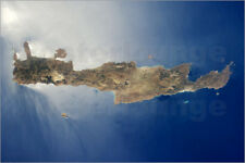 Poster, stampa su tela o vetro acrilico View from space of the ... - S. Images