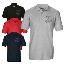 Tyhoon FGR4 RAF Multi-role Combat Aircraft Embroidered Blueprint Polo T-shirt