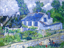 Póster, lienzo o cuadro en metacrilato Houses in Auvers - Vincent van Gogh