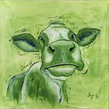 Póster, lienzo o cuadro en metacrilato The olive colored cow... - A. Tropschug