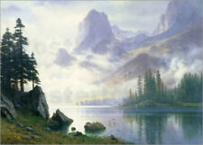 Póster, lienzo o cuadro en metacrilato Mountain out of the Mist - A. Bierstadt