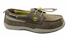 Timberland Earthkeepers Infantil Bungee Zapatos Náuticos Juventud Piel Gris Topo
