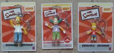 The Simpsons Bendable Keychain - Homer or Bart or Krusty The Clown New MOC