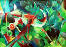 Póster, lienzo o cuadro en metacrilato Deer in the Flower Garden - Franz Marc