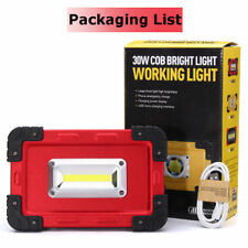 30W USB LED Portable Rechargeable Flood Light Spot Work Camping Outdoor Lamp s a