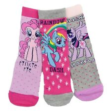 Niña My Little Pony Paquete de Tres Calcetines 3-5.5 To 12.5-3.5