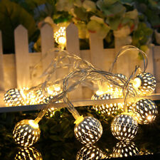 40 LED 5M Power Corded Hollow Ball String Light Christmas Party Festival Decor