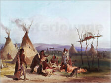 Poster / Toile / Tableau verre acrylique Camp of Native Americans - Karl Bodmer