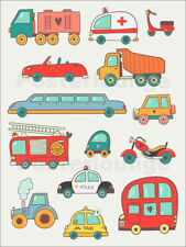 Póster, lienzo o cuadro en metacrilato So many cars for the... - Petit Griffin