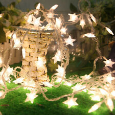 20 LED Warm White Star Fairy String Light Party Xmas Tree Decor Battery Operated