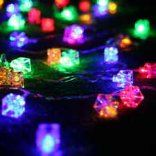 20 LED Square Ice Cube String Light Christmas Party Night Decor Battery Operated