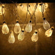 Battery Operated 10 LED Hollow Bulb String Light Christmas Party Festival Decor