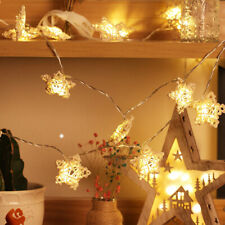 Rattan Plaited Pentagram String Light Wedding Festival Indoor Decor 10 LED 1.2M
