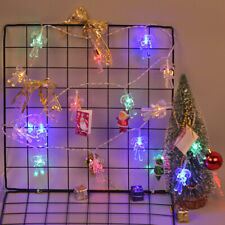 Battery Operated Crutch String Light Indoor Festival Christmas Decor 20 LED 2.5M