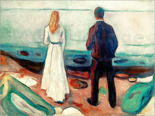 Póster, lienzo o cuadro en metacrilato Two people. The lonely - Edvard Munch