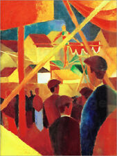 Poster / Toile / Tableau verre acrylique Funambule - August Macke