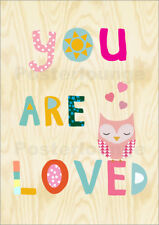 Póster, lienzo o cuadro en metacrilato You are loved Owl - GreenNest
