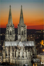 Póster, lienzo o cuadro en metacrilato the cologne cathedral at sunset