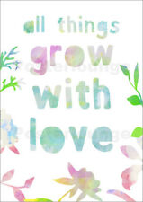 Póster, lienzo o cuadro en metacrilato all things grow with love - GreenNest