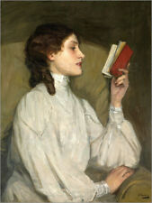 Póster, lienzo o cuadro en metacrilato Miss Auras, The Red Book - S. Lavery