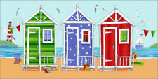 Póster, lienzo o cuadro en metacrilato Colorful beach huts - Peter Adderley