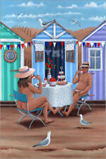 Póster, lienzo o cuadro en metacrilato 26242 Beach huts after... - P. Adderley