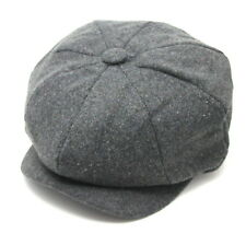 Tommy Shelby Peaky Blinders Mens Newsboy Style Cap Plain Grey WOOL A1