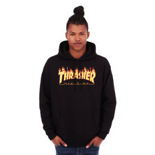 Thrasher - Flame Hoodie Black Kapuzenpullover Hooded Sweater