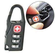 3 Dial Safe Number Code Alloy Padlock Combination Travel Suitcase Luggage Lock