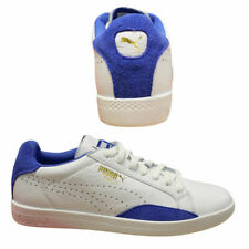 Puma Match Lo Basic Sports White Blue Womens Lace Up Leather Trainers 357543  Q2 c85fb3625fe9