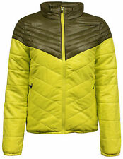 Nike Womens Insulated Padded Zip Lightweight Coat Jacket Yellow 418566 233 M19