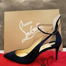 Christian Louboutin MASCARA 70 Strappy Pumps Heels Sandals Shoes Navy Blue $895