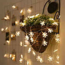 40LED 5M Christmas Tree Snowflake String Light Festival Party Decor Power Corded