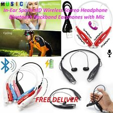 100% NEW Earphones with Mic In-Ear Sports HD Wireless Stereo Headphone Bluetooth